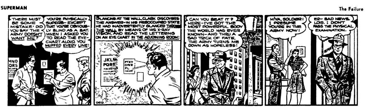 superman eyetest comic strip